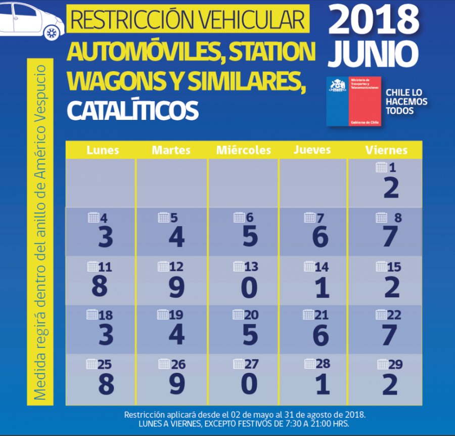 Calendario catalíticos junio